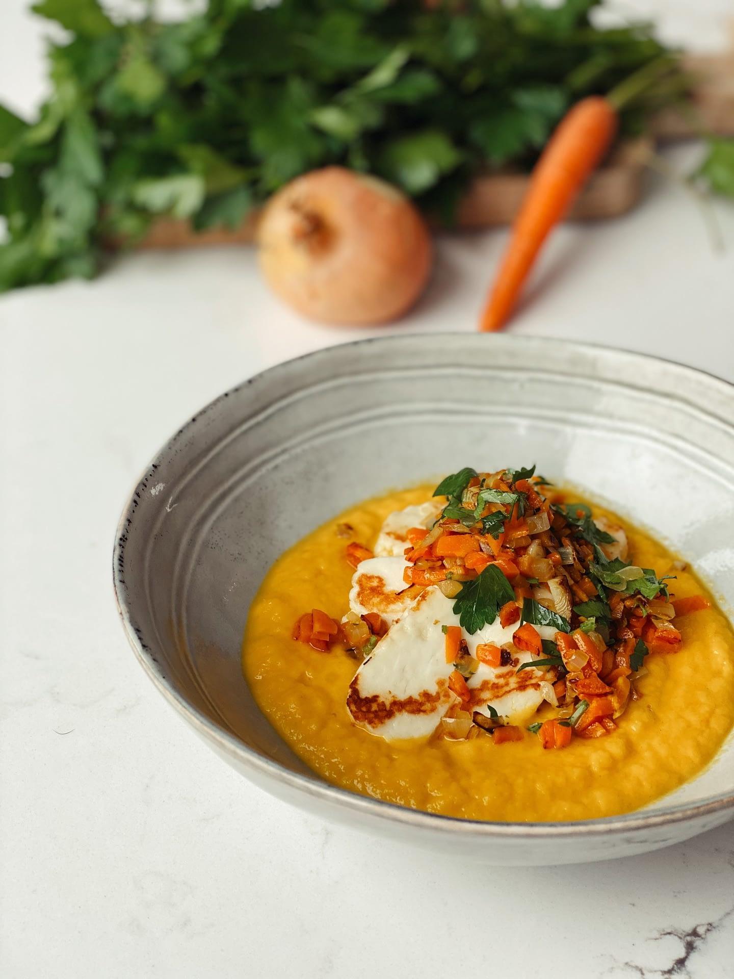 Halloumi aux carottes