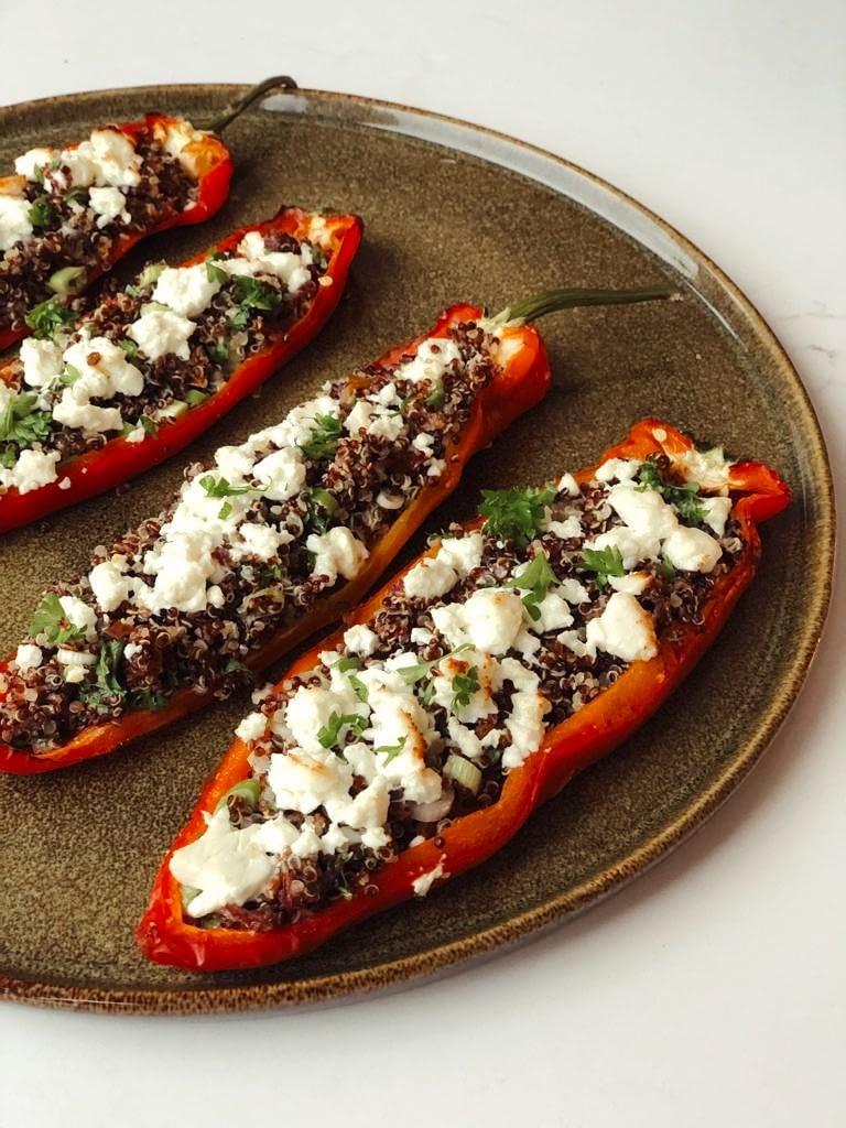 Poivrons doux farcis au quinoa